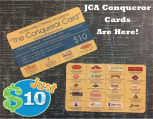 JCA Conqueror Cards are Here 2018-2019