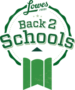 Lowes Food Back 2 School logo