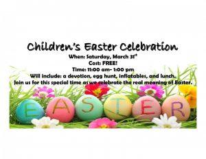 Children's Easter Celebration Website